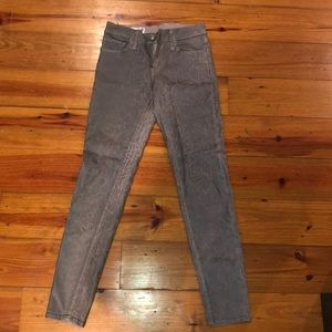 Red engine cargo skinny jeans